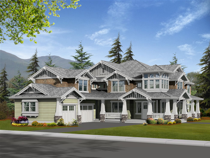 Craft homes for Custom craftsman house plans